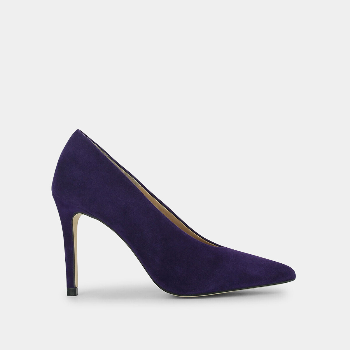 High heeled pumps in purple suede - Jonak violet