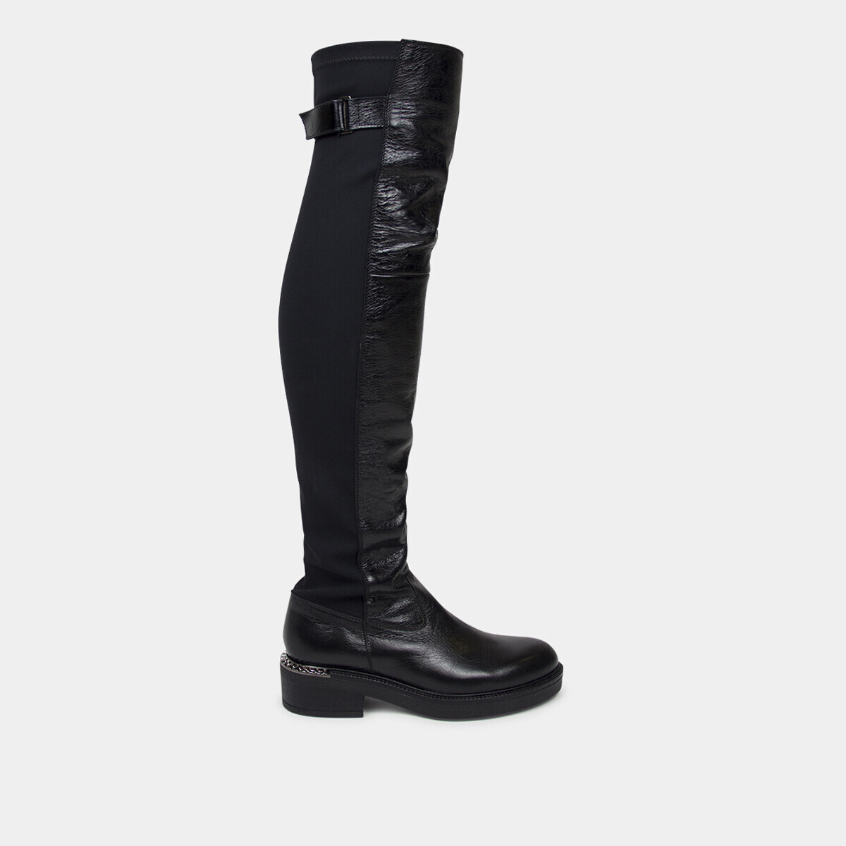 cc3073ce29113 Thigh high boots in black stretch leather - Jonak black