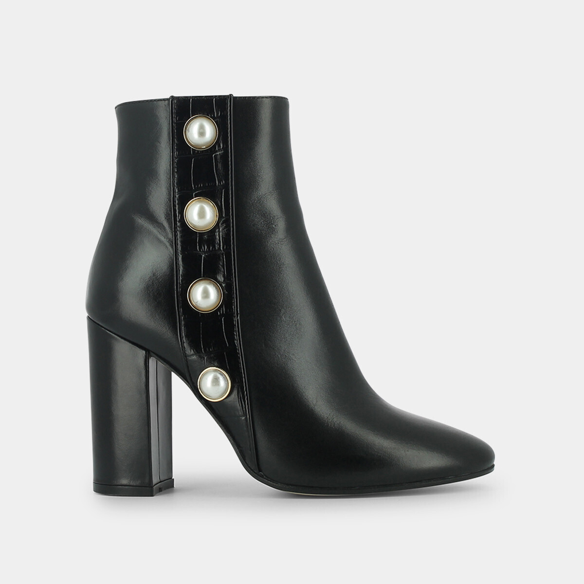 Ankle boots with pearls in balck leather - Jonak black